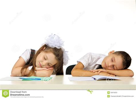 Student Sleeping On Desk by Students Are Sleeping On The Desk Stock Photos Image