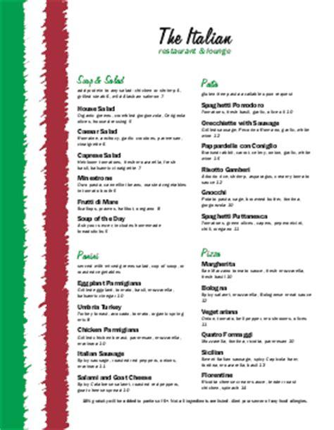 italian restaurant menu template musthavemenus