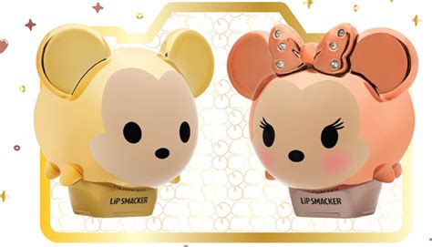 Lip Smacker Tsum Tsum Lilo Stitch new limited edition gold mickey and minnie lip smacker set