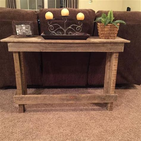 Diy Pallet Sofa Table Console Table 101 Pallets Pallet Sofa Table