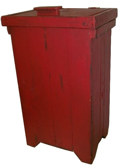 country style trash bin primitive distressed trash bin country style