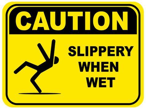 Slippery  Wet Floor Sign Creative Safety Supply