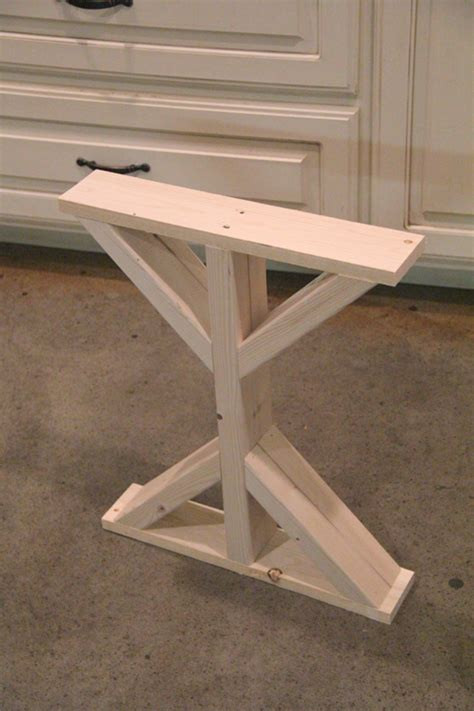 diy table with cross legs diy desk for bedroom farmhouse style shanty 2 chic
