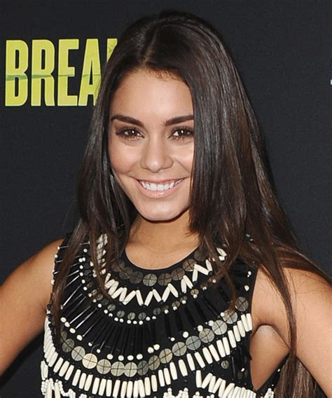 Vanessa Hudgens Long Straight Casual Hairstyle   Dark Brunette