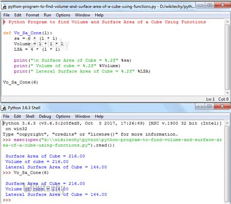 python tutorial def python tutorial python program to find volume and