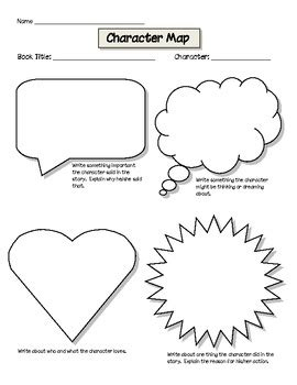 printable graphic organizer character map character map graphic organizer for common core by
