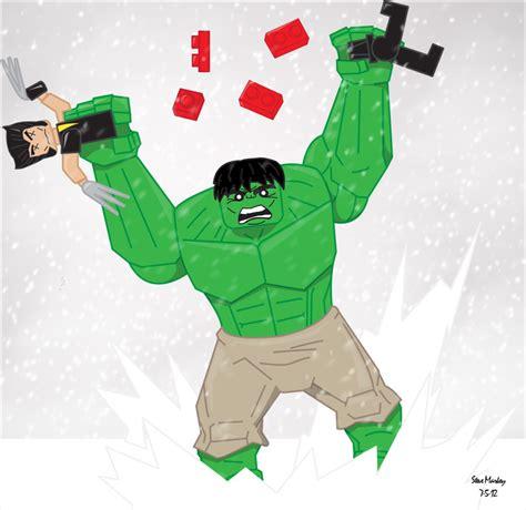 imagenes de wolverine en lego lego hulk ve lego wolverine by momarkey on deviantart