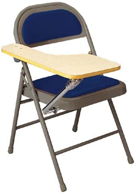 folding chair desk all padded miracle fold tablet arm chair by ki options