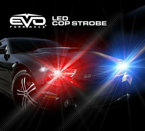 evo formance universal led  strobe light headlight kit