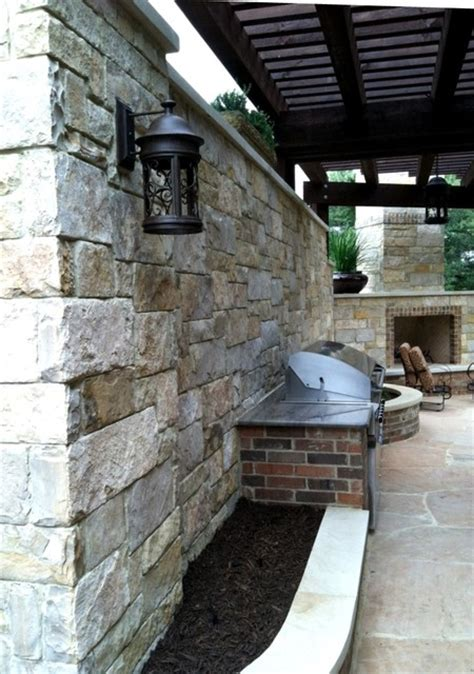 Circular Outdoor Fireplace by Rock Outdoor Bbq Fireplace Privacy Wall