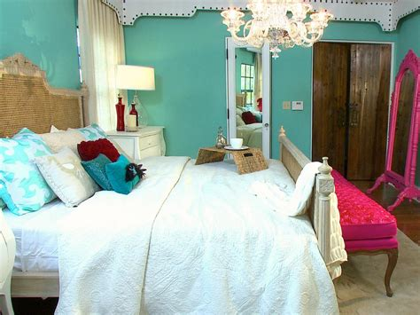 teal and red bedroom photo page hgtv