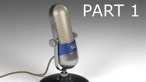 blender tutorial tutor4u blender tutorial modeling a vintage microphone part 1