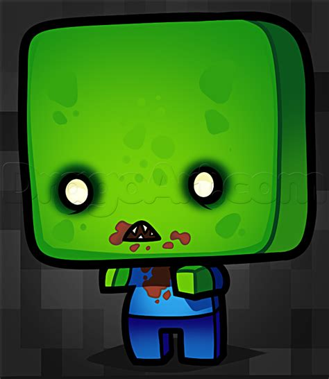 chibi minecraft coloring pages how to draw a chibi minecraft zombie step by step chibis