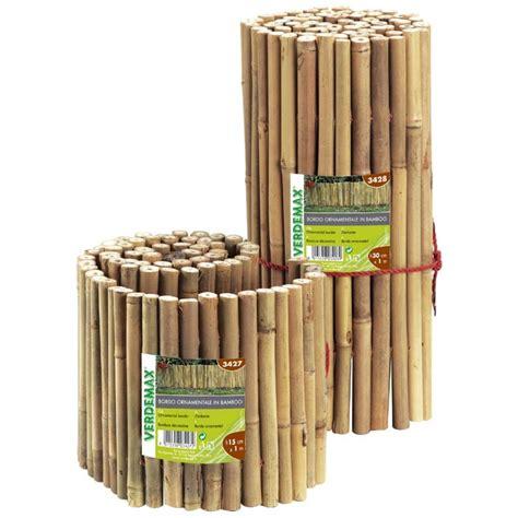 bordura giardino legno bordura ornamentale in bamboo per recinzioni lunghezza cm 100