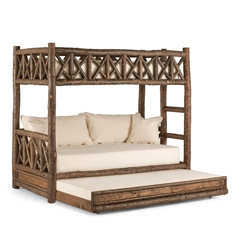 rustic beds rustic bunk bed with trundle la lune collection