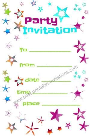 free printable party invitations templates best template