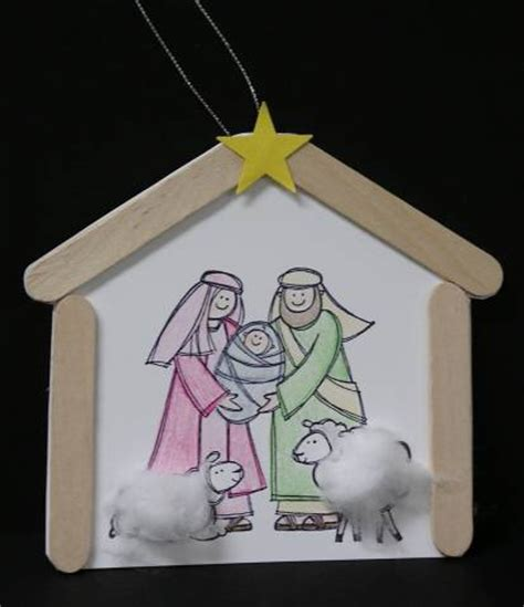 nativity paper craft ornament to make with pathfinders by scrapenkaren at