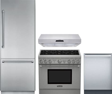 thermador kitchen appliance packages thermador threradwrh40 4 piece kitchen appliances package