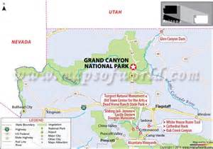 arizona map with grand grand national park arizona usa facts hours