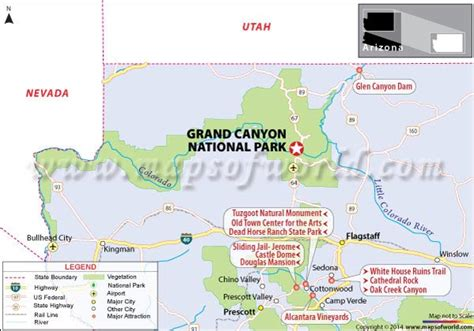 grand map park grand national park arizona usa facts hours