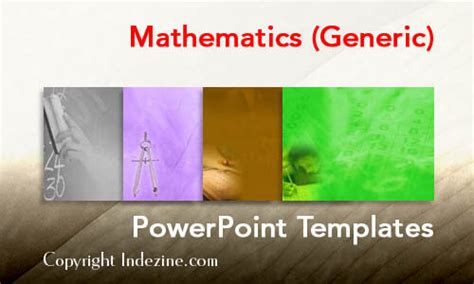 mathematics generic powerpoint templates