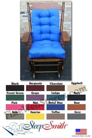 Glider Rocker Cushions Standard Size Duck Fabric
