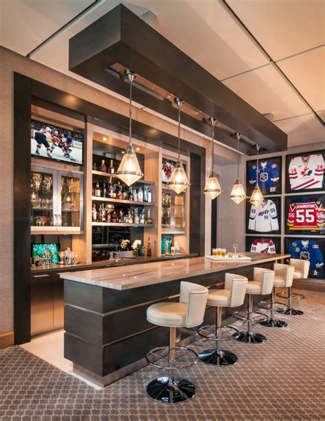 pub room game room bar contemporary home bar miami by