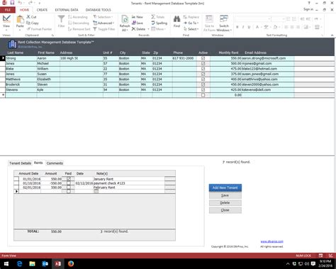 inventory management database template database by www blueclaw db