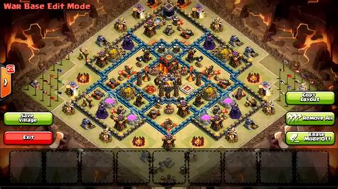 town hall 10 base war th8 to th11 farming war base layouts for january 2017