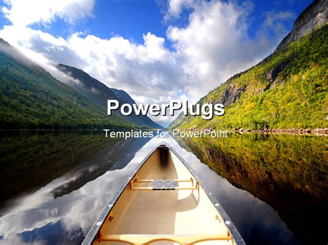 powerpoint themes river powerpoint template a boat in a river along with