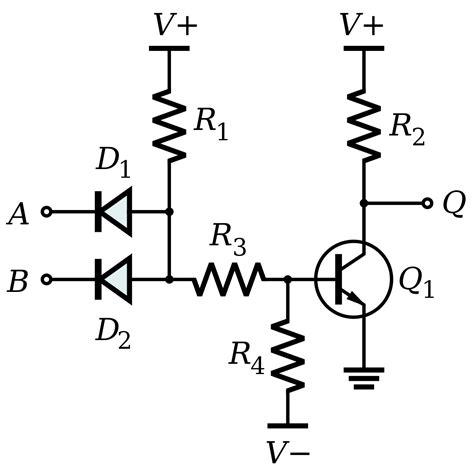transistors and diodes diode transistor logic