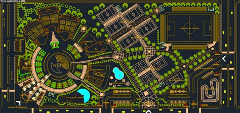 complete center recreational  dwg design section