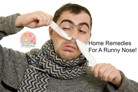 home remedies for a runny nose stay at home