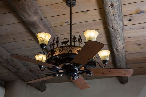 rustic cabin ceiling fans cedarcrest chandelier ceiling fan rustic lighting and fans