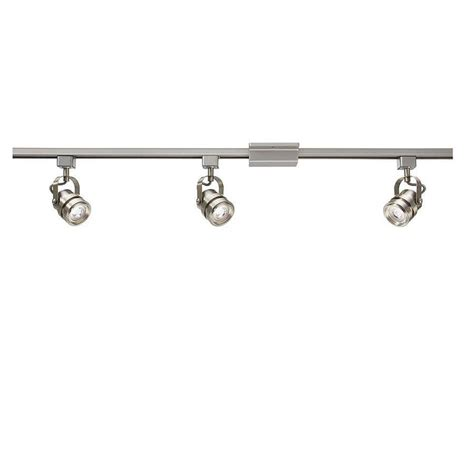 project source track lighting shop project source 3 light 42 in brushed nickel dimmable