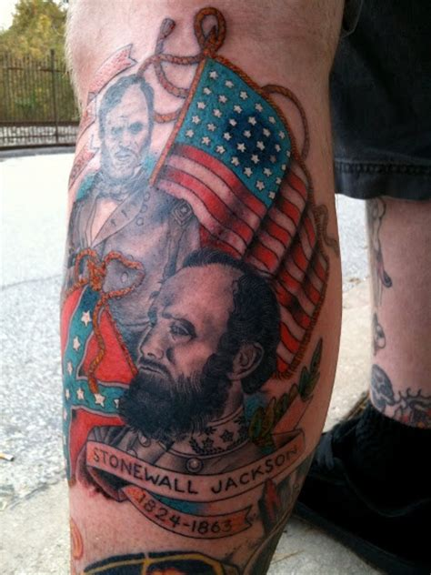 civil war tattoo finished tattoos pinterest