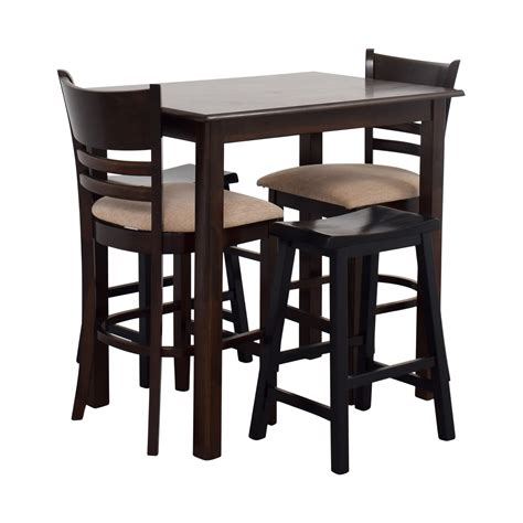Dining Table Bar Stools by 70 Simple Bar Table With Two Chairs And Two Stools