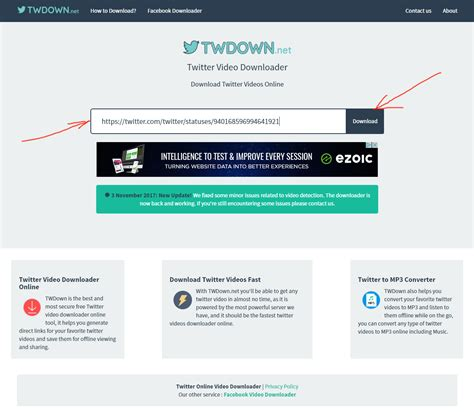 tutorial video twitter twdown net twitter video downloader review tutorial step 2