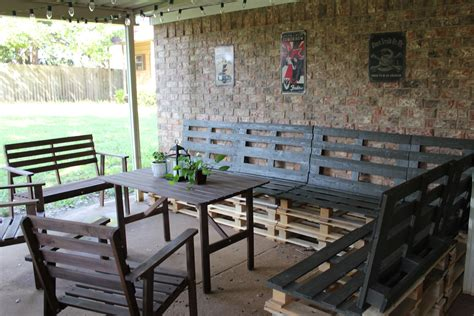 pallet furniture patio diy outdoor patio furniture from pallets