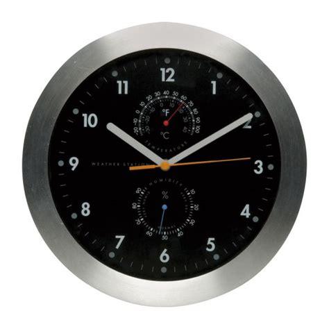 weather horloges noir argent 233 verre m 233 tal habitat