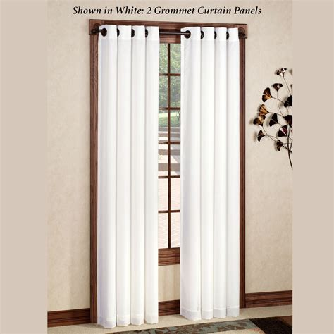 panels curtains rhapsody thermavoile tm grommet curtain panels