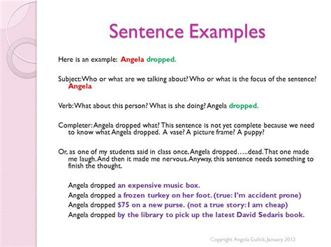 sentence of swing sentence structure review sentence fragments ppt video