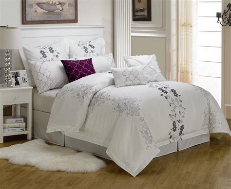9 cal king carolyn embroidered comforter set