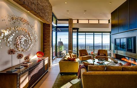 fabulous living room offers a great view of the city and
