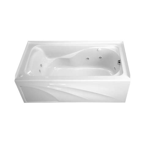 5 foot whirlpool bathtub american standard cadet 5 ft whirlpool tub with integral