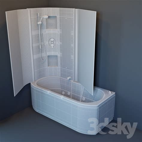 Bathtub In The Shower 3d Models Bathtub Bath Hafro Duo Box