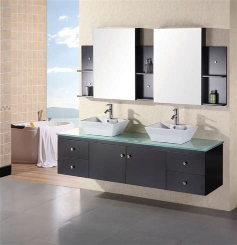 72 inch modern vessel sink bathroom vanity with