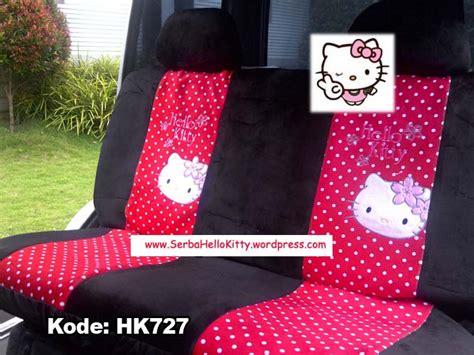 Cover Sandaran Jok Car Sarung Kursi Mobil Set Hk Hello Pink sarung jok mobil hello polkadot merah