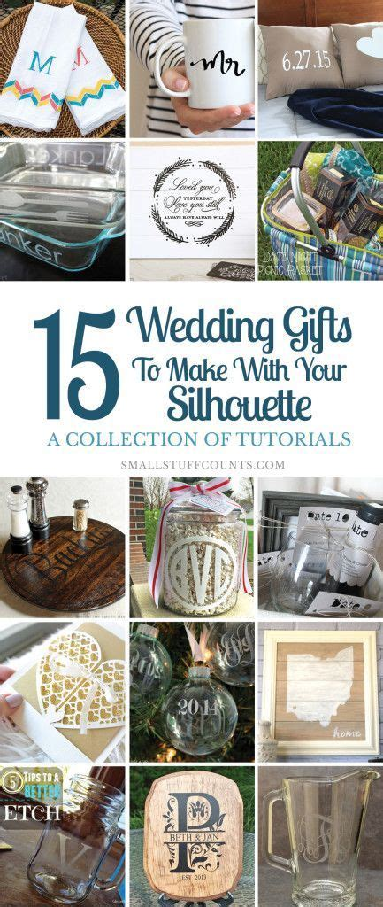 Vinyl Wedding Gift Ideas by Best 25 Silhouette Cameo Gifts Ideas On