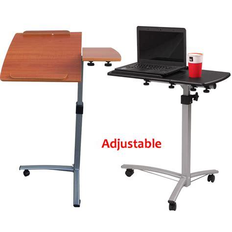 height adjustable rolling laptop desk hospital table cart  bed stand ebay